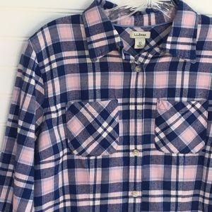 L. L. Bean Freeport flannel plaid shirt SIZE XS